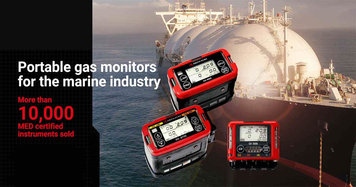 Gas monitors for marine industry